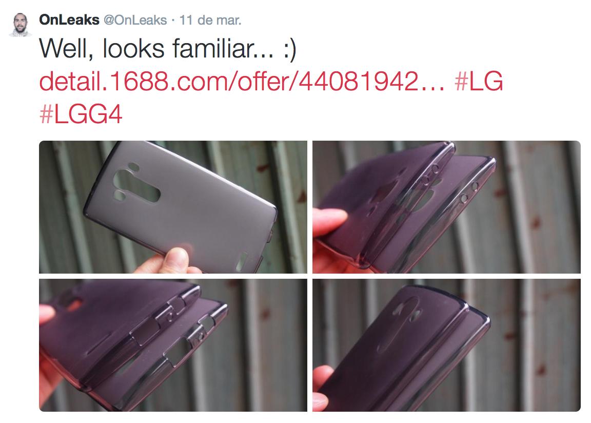 Supuestas fundas del LG G4