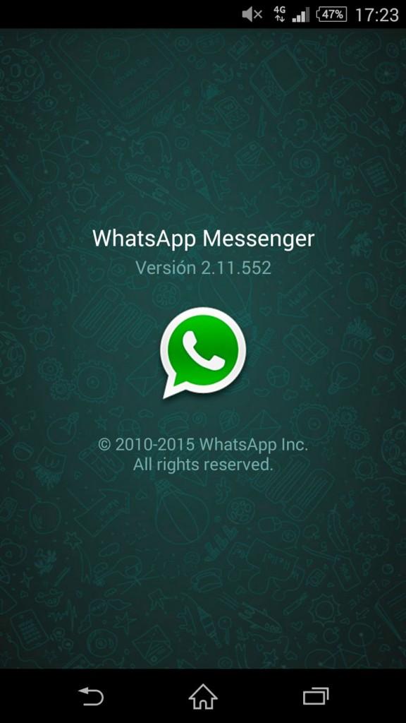 WhatsApp versión