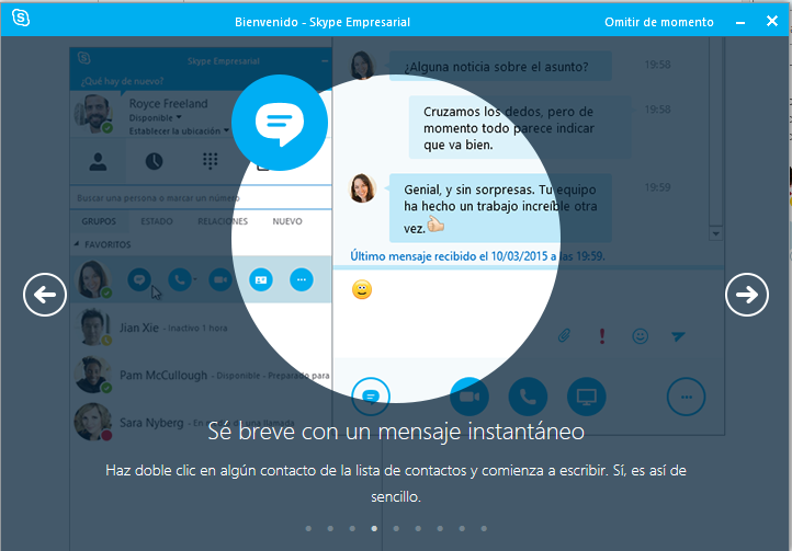 Chat en Skype for Business
