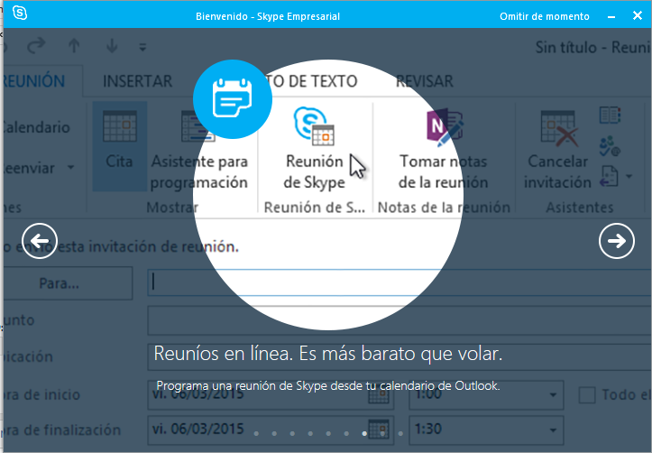 Reuniones en Skype for Business
