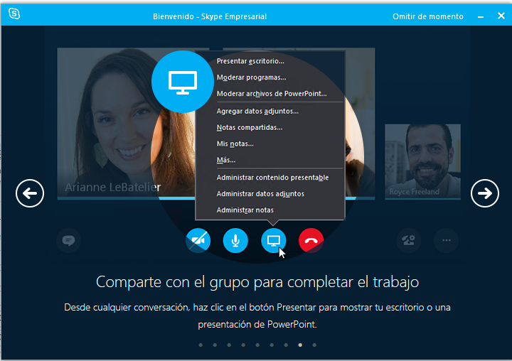 Presentando en Skype for Business