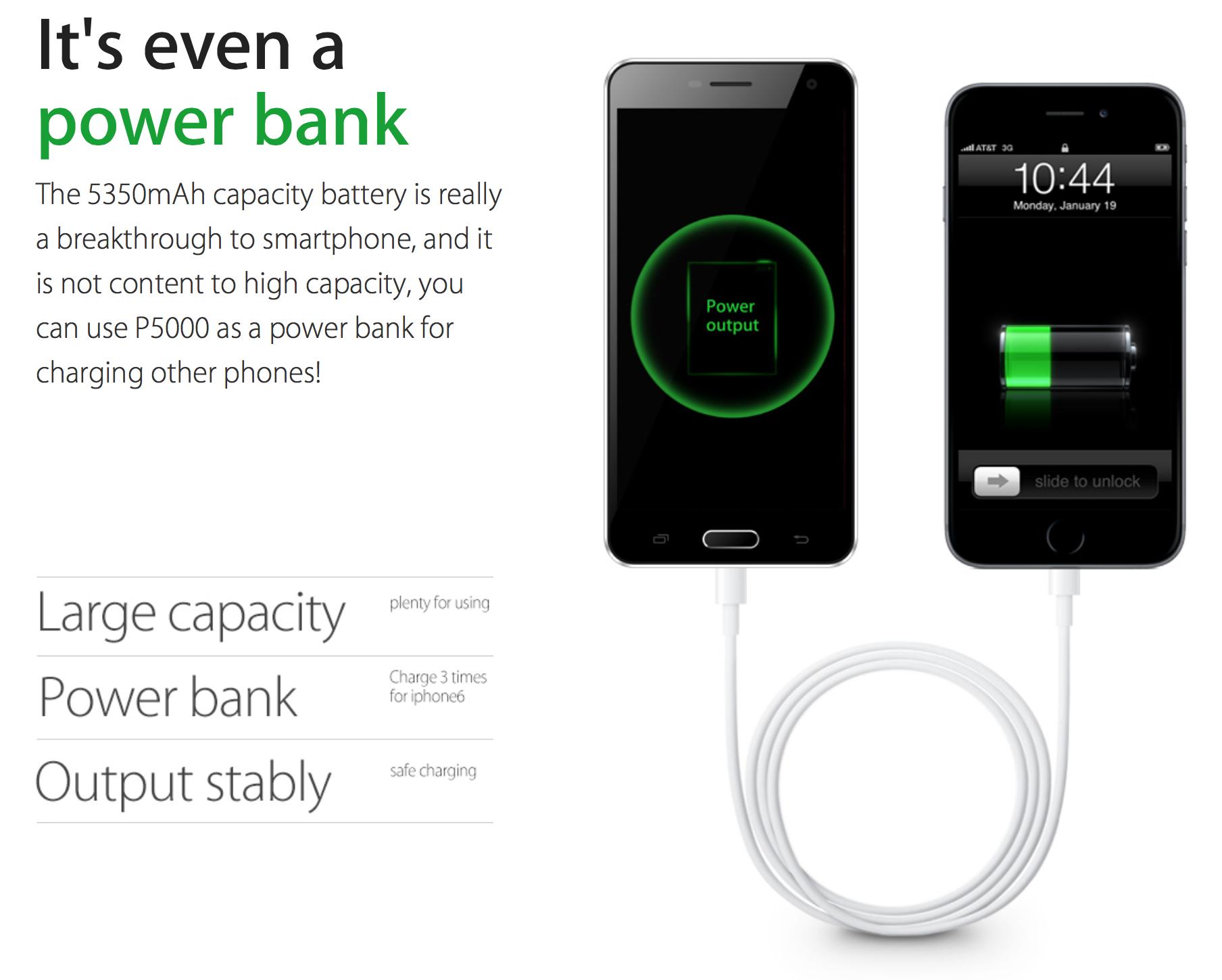 Elephone P5000 power Bank
