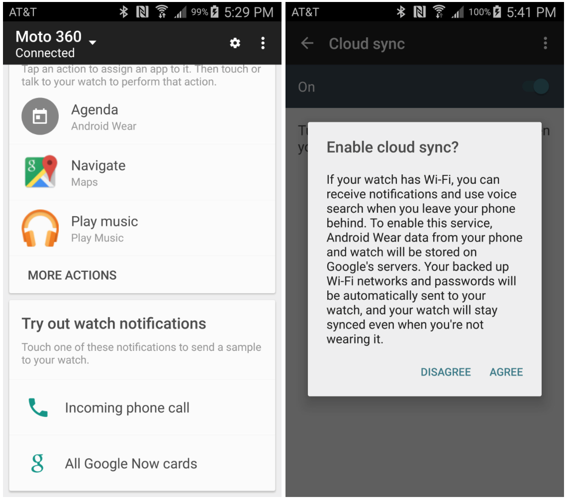 Android Wear 1.1