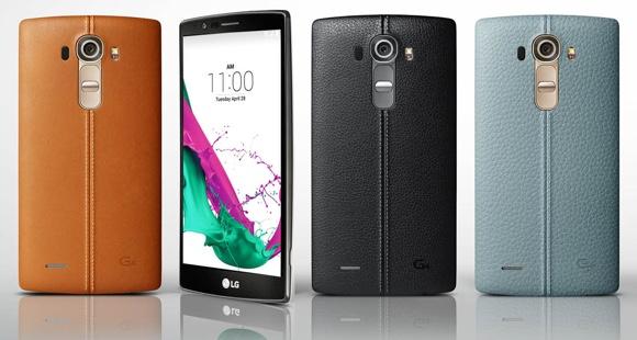 LG G4 con acabado de piel