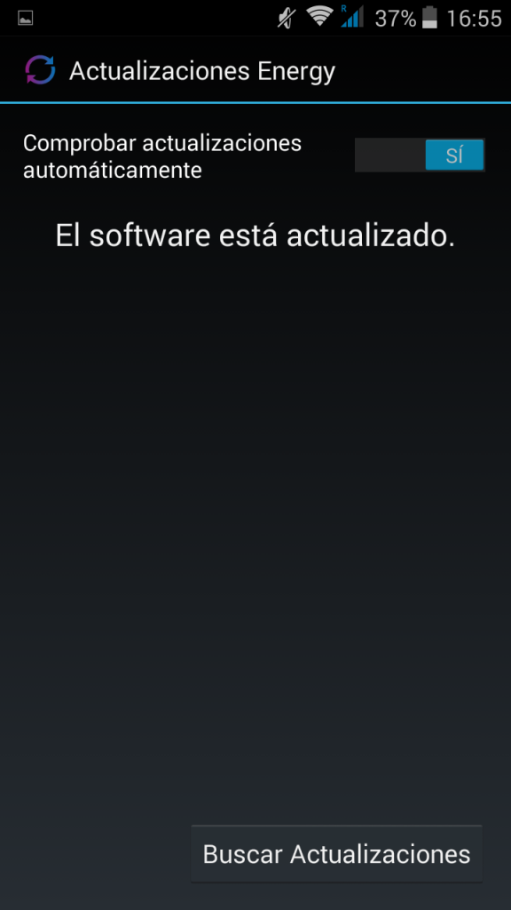 Actualizaciones - Energy Phone Pro HD