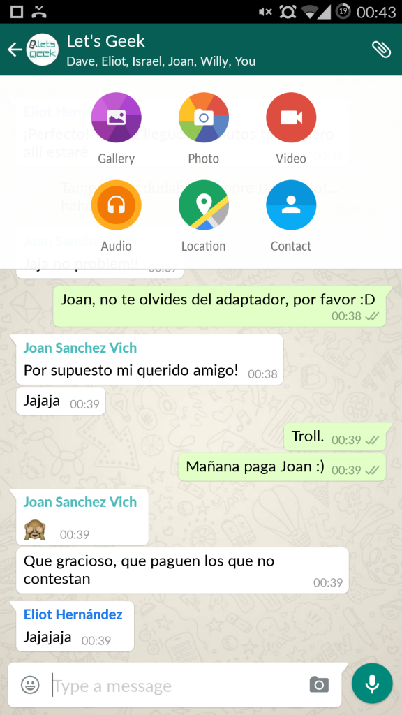 WhatsApp Material Design - Let's Geek