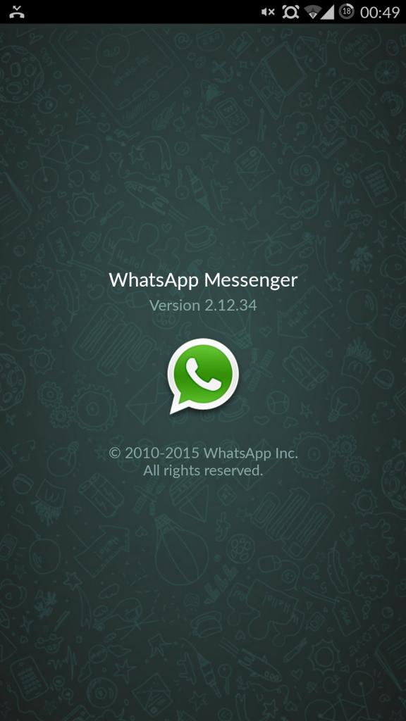 Versión 2.12.34 WhatsApp