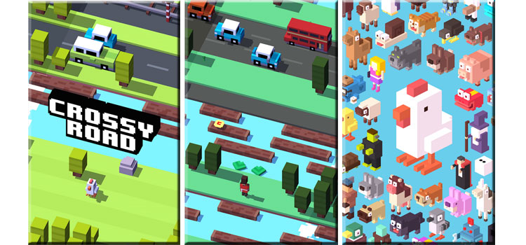 Interfaz de Crossy Road