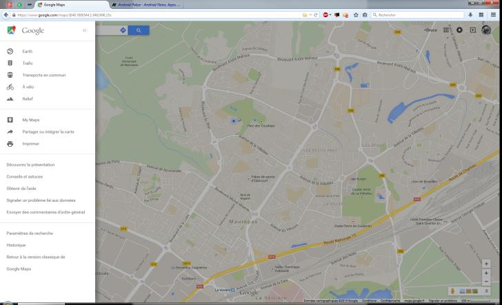 interfaz nueva goole maps