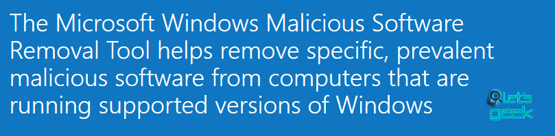 Malware removal tool Windows