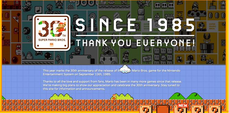 30 aniversario Super Mario Bros
