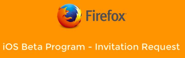Programa beta Firefox en iOS