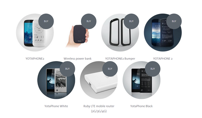 Productos YotaPhone