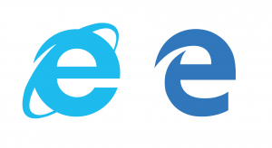 Comparativa logos Internet Explorer vs Microsoft Edge