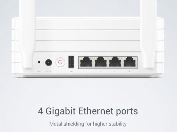 Xiaomi Mi Wi-Fi Ethernet Ports