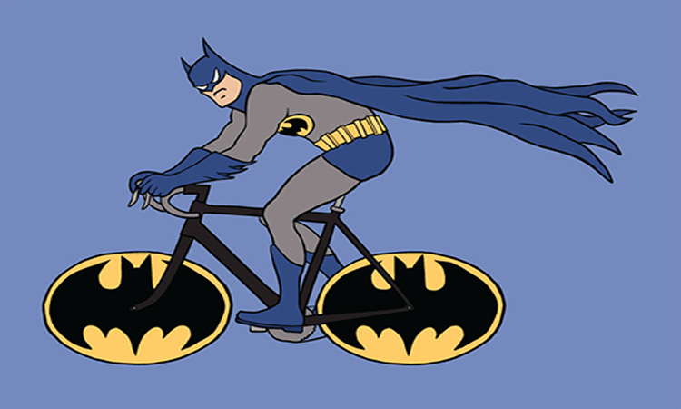 Batman en batcicleta