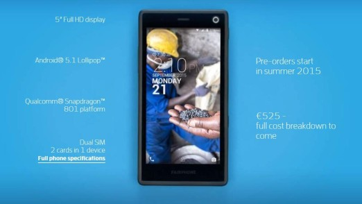Fairphone 2 especificaciones