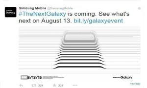tweet del evento de Samsung
