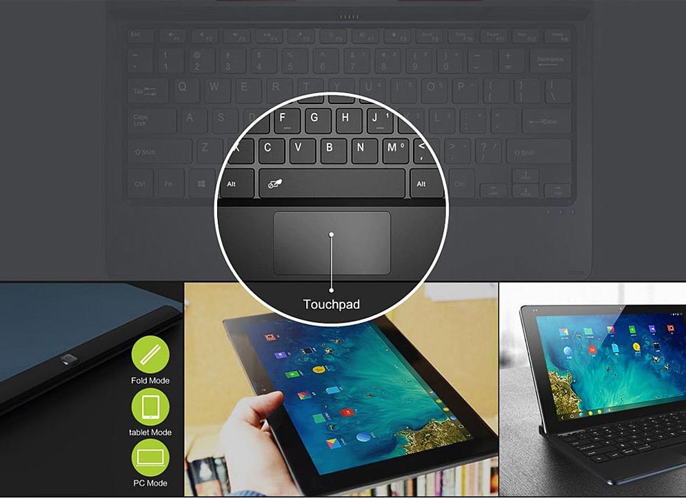 Teclado y touchpad de Cube I7 Remix