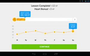Interfaz Duolinguo