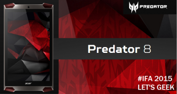 GAMING TABLET PREDATOR 8